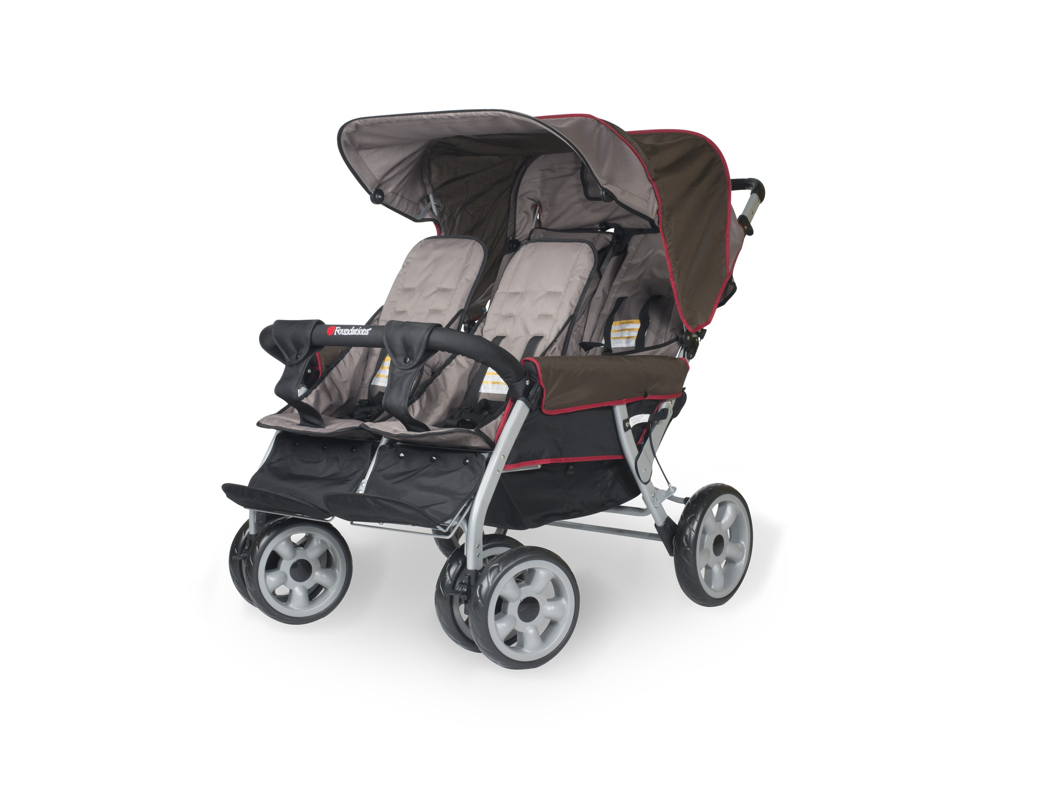kita krippenwagen kinderwagen 4 sitzer lx4 linea braun. Black Bedroom Furniture Sets. Home Design Ideas