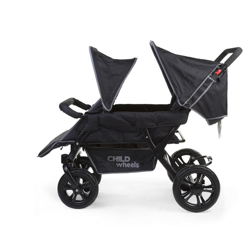 anthrazit f/ür Drei-Vier-Sechs-Er Sportwagen Childwheels CWFM Fussack